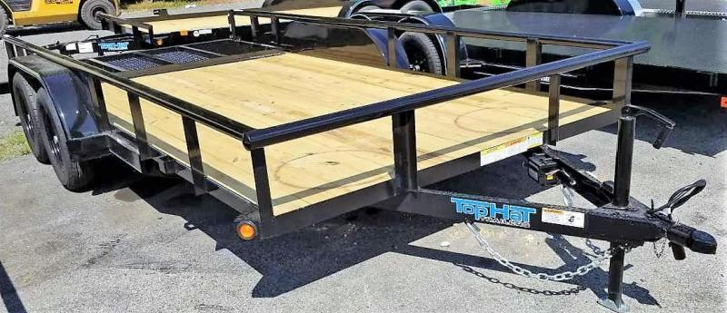 2020 Top Hat 7X16 Utility Trailer w/Pipe Rail