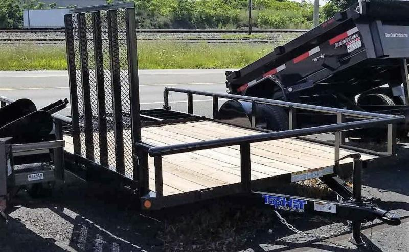 2019 Top Hat 7x14 Utility Trailer w/Pipe Rail