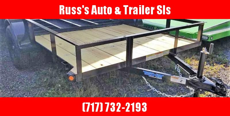 2020 Top Hat 6.5X10 Angle Rail Utility Trailer
