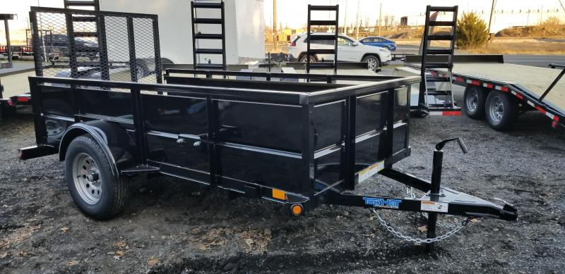 2019 Top Hat 5x10 Utility Trailer w/enclosed sides & Ramp Gate