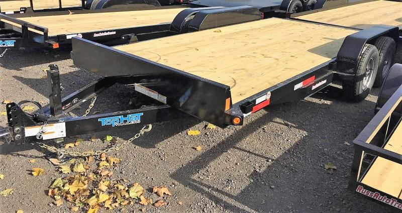 2020 Top Hat Trailers 7x16 Equipment Trailer w/Fold-Up Ramps 10k