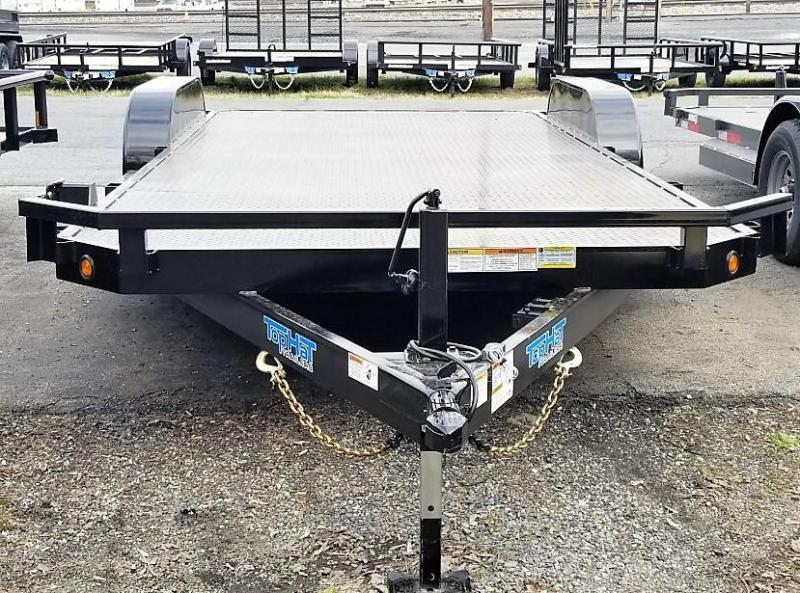 2020 Top Hat 7 X 20 HD CarHauler Trailer w/Steel Deck 10k
