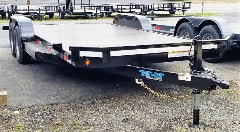 2020 Top Hat 7 X 20 HD CarHauler Trailer w/Steel Deck 10k