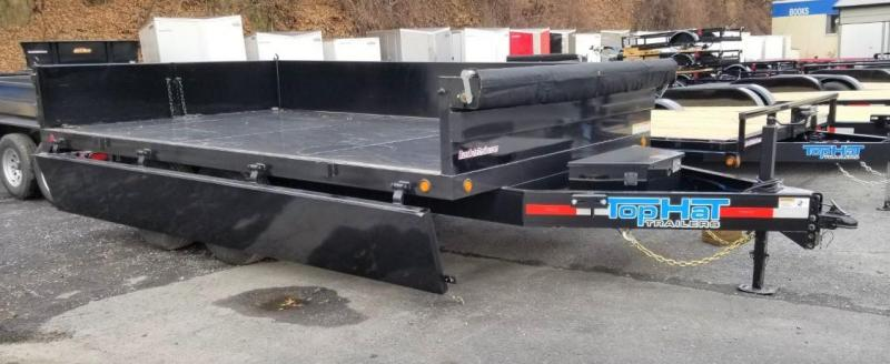2020 Top Hat Trailers 8X14 Dump Trailer w/Double Drop Side 14k