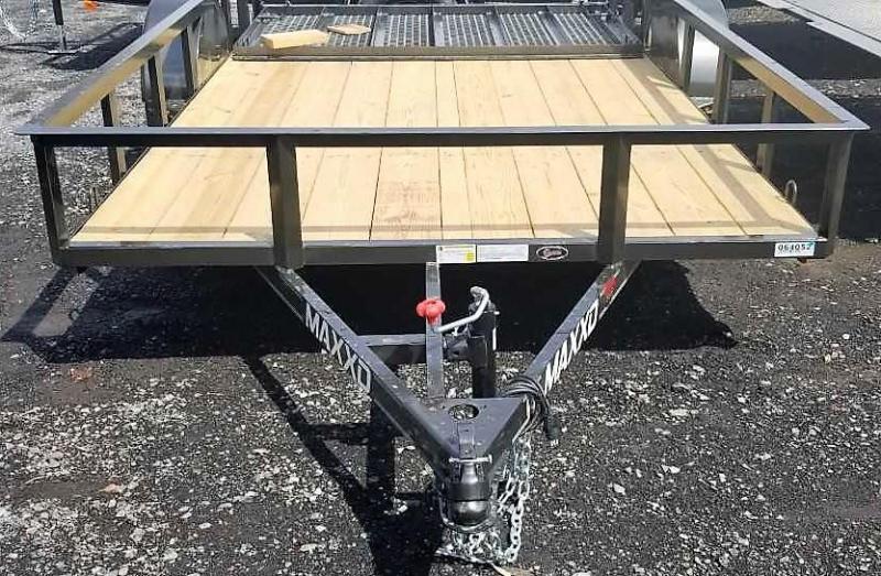 2019 MAXXD 6.5X12 Utility Trailer w/Angle Rail