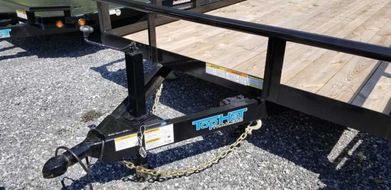 2019 Top Hat 7X18 Utility Trailer- 10K W/HD Split Gate