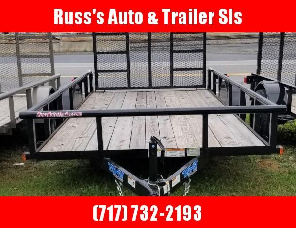 2019 Top Hat Trailers 6.5X14 Utility Trailer w/Pipe Rail