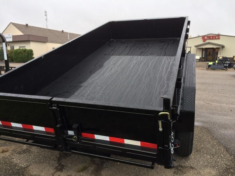 Sparks 14'  Dump Trailer-50% more dumps Gravity Down Feature