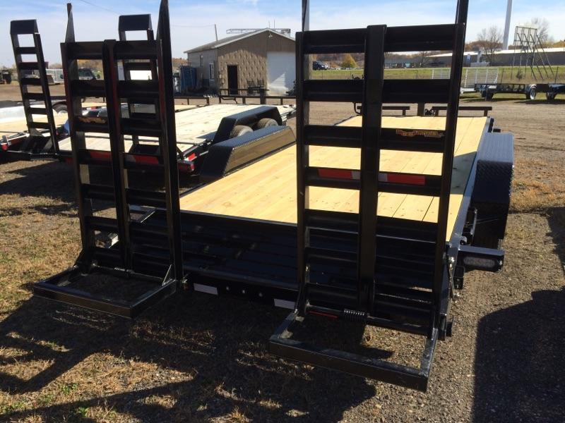 "Sparks  16' Skidsteer Trailer 26"" Wide Loading Ramps"