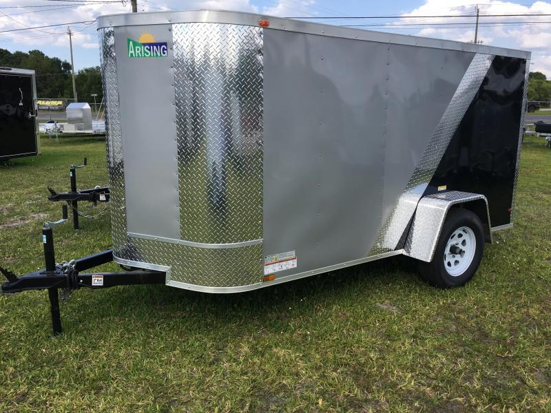 2020 Arising 5x10 Single Axle Enclosed Cargo Trailer