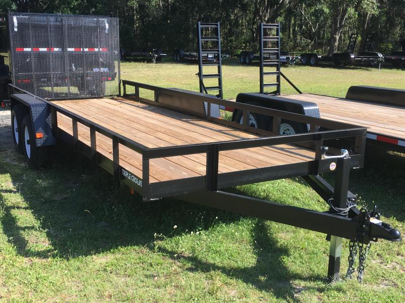 2019 Triple Crown 7x20 Tandem Axle Super Duty Utility Trailer
