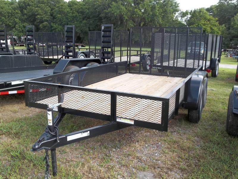 2019 Triple Crown 6x12 Tandem Axle Mesh Open Utility Trailer