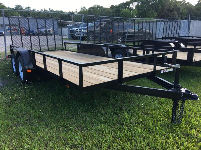 2019 Triple Crown 6x16 Tandem Axle Open Utility Trailer