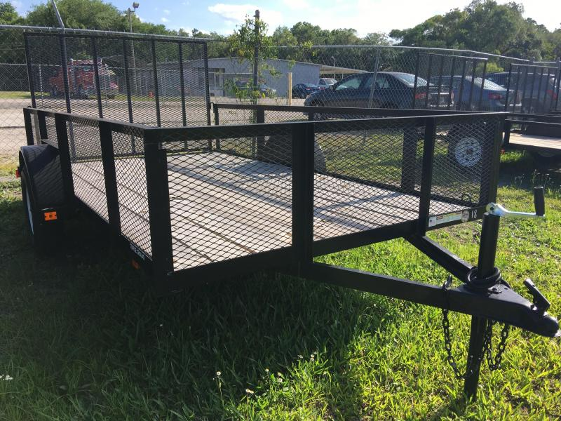 2019 Triple Crown 6x12 Single Axle Mesh Open Utility Trailer