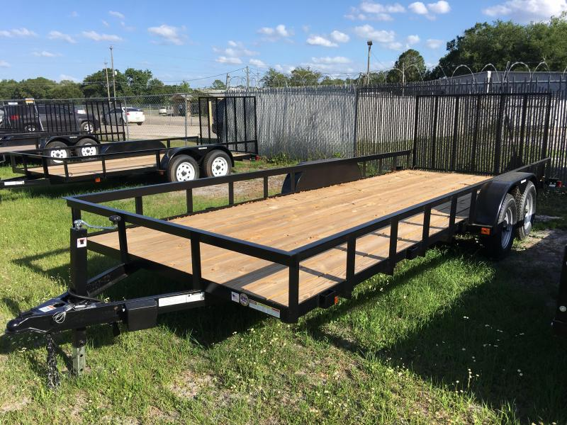 2019 Triple Crown 7x20 Tandem Axle Open Utility Trailer