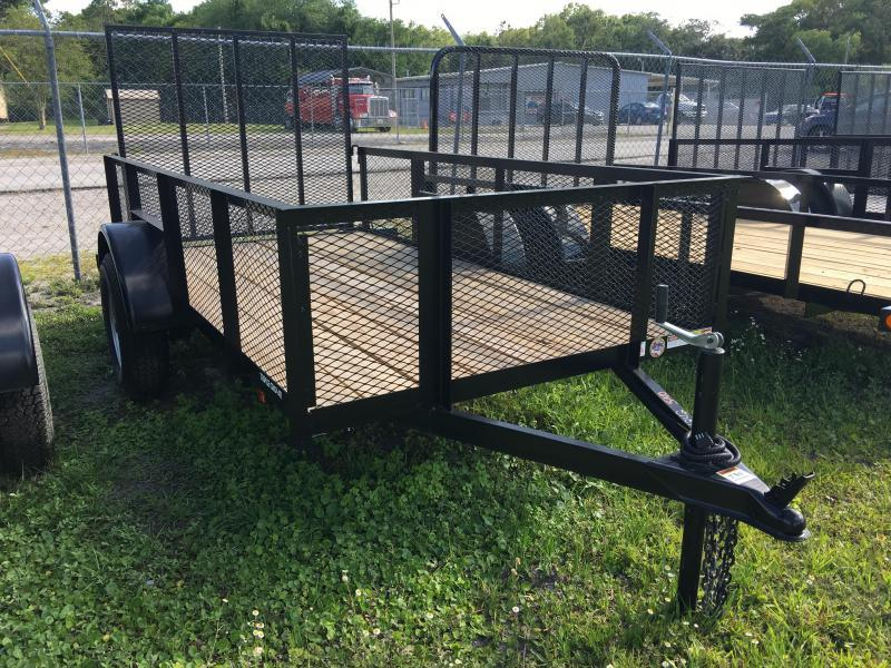 2018 Triple Crown 5x10 Single Axle Mesh Open Utility Trailer