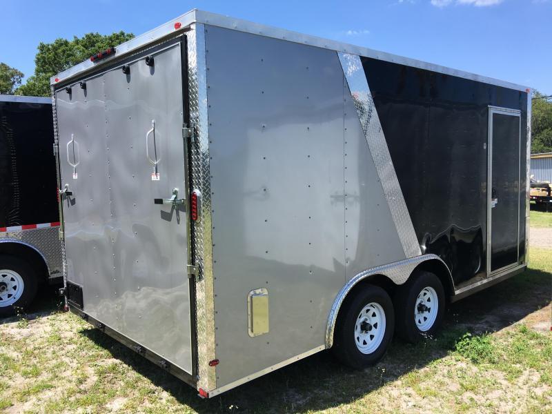 2020 Arising 8.5x16 Tandem Axle Enclosed Cargo Trailer