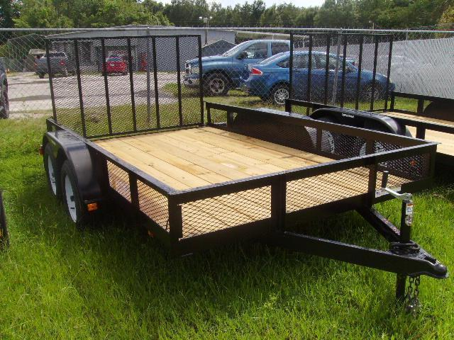 2018 Triple Crown 7x12 Tandem Axle Mesh Open Utility Trailer