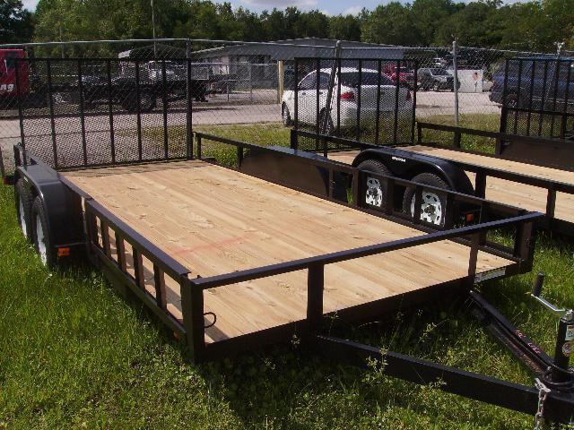 2019 Triple Crown 7x16 Tandem Axle Open Utility Trailer