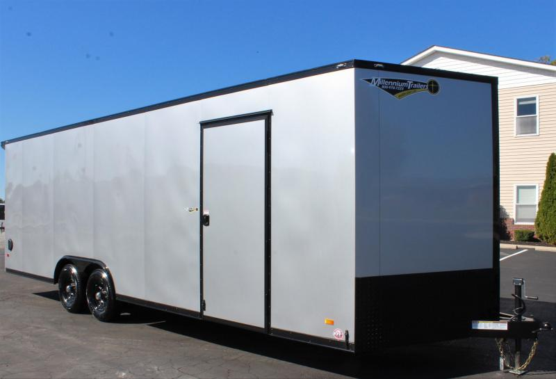 <b>NEW Midnight Edition</b> 2020 24' Millennium Scout Race Trailer Lighted Wing & Black Out Pkg.