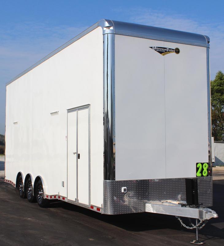 2020 28' Millennium Stacker w/Finished Interior & 6K Titan Car Lift