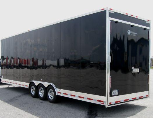 32' Millennium Enclosed Car Trailer w/Custom Ramp Overs