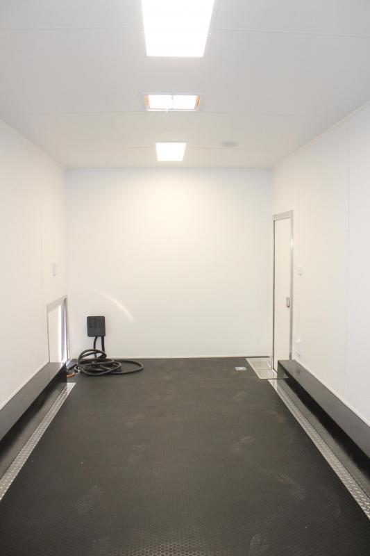 Due Out Soon! 2020 40' Millennium Silver Enclosed Gooseneck Trailer w/12' Sofa Living Quarters/King Size Bath