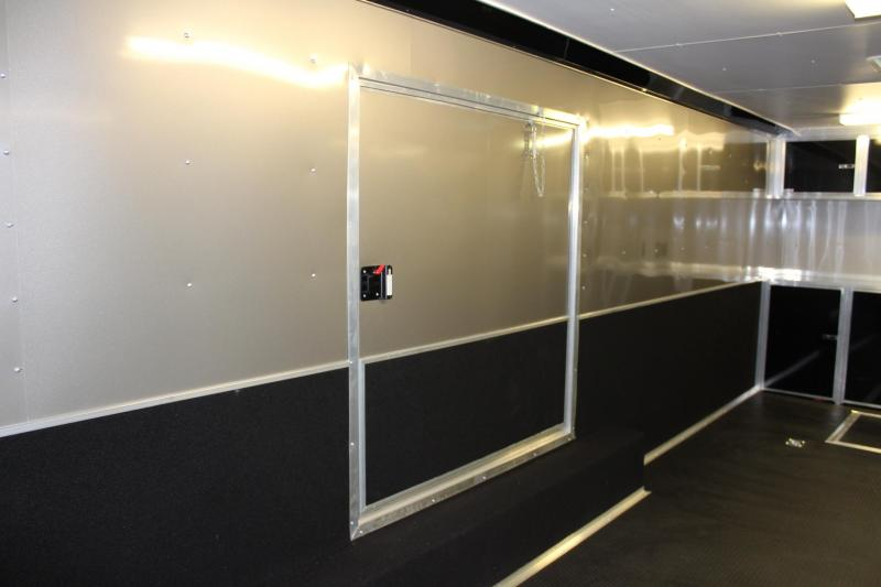 <b>MEGA BLOW-OUT SALE $18599</b> 2020 Red/Black 24' Millennium Extreme Race Car Enclosed Trailer w/Rear Wing & FREE Escape Door