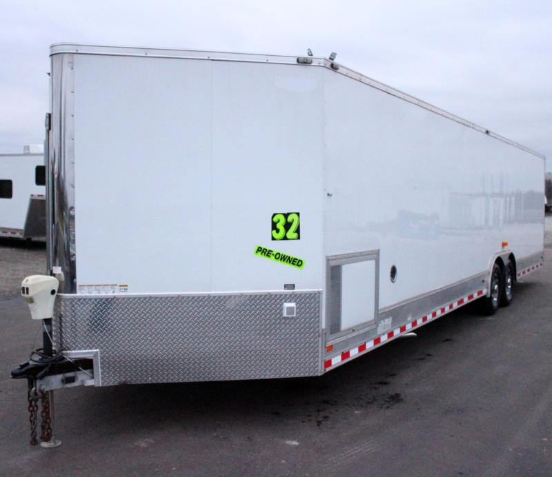 <b>Pre-Owned with 5,500 Onan Generator</b> 2015 32' Automaster V-Nose w/Front Ramp