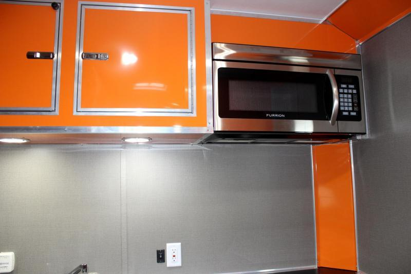 <b>SALE PENDING SUPER SHARP MOTORCYCLE LQ</b> 28' Millennium Auto Master Toy Hauler Black w/Orange Cabinets & Tons of Options Added!