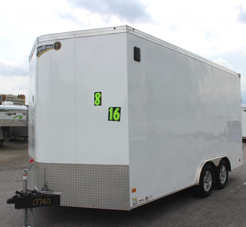 "<b>BLACK FRIDAY SALE $6999</b>  2019 8.5' x 16' Haulmark Transport V Enclosed Cargo Trailer 12"" Extra High FREE ALUM WHEELS"
