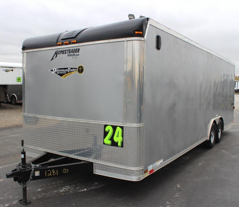 <b>Pre-Owned Trade In</b> 2014 24' Homesteader Champion Car / Racing Trailer