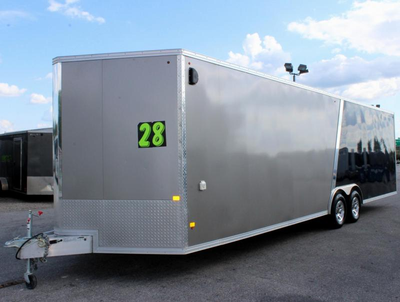 <b>SALE PENDING</b> PRE-OWNED TRADE-IN  2016 28' Stealth Aluminum Car / Racing Trailer