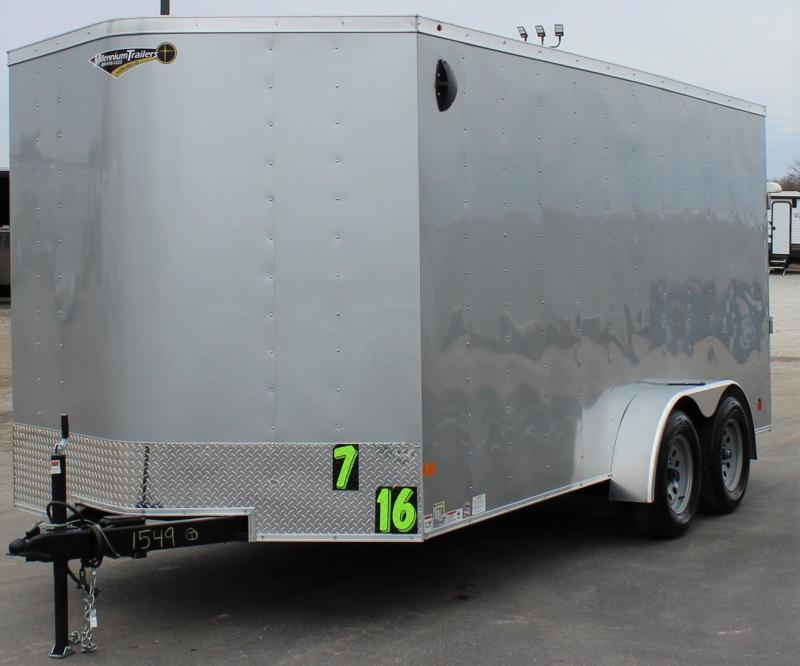<b>Affordable Value</b>  2020 7' x 16'  Millennium Passport V-Nose Trailer w/Ramp Door &amp; D-rings