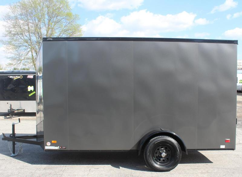 """<b> Ready For Your Toys! NEW BLACK-OUT PKG</b> 2020 6'x12' Scout Silver Enclosed Cargo Trailer 6"""" Extra High"""