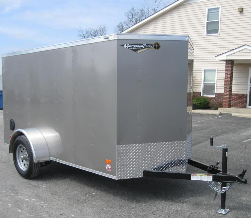 5'x10' Scout Enclosed Cargo Trailer Ramp Door Free Upgrades