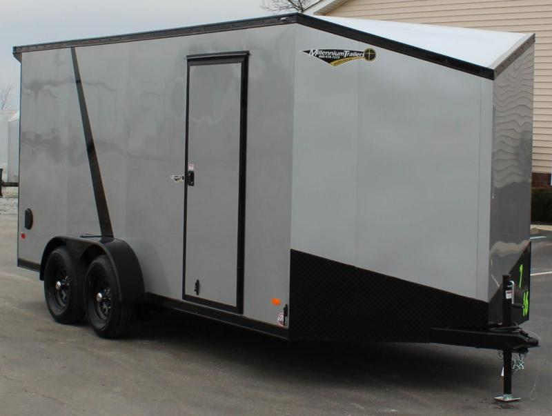 <b>NEW Midnight Edition</b> 2020 7'x16' Millennium Scout w/Wing Cargo Trailer