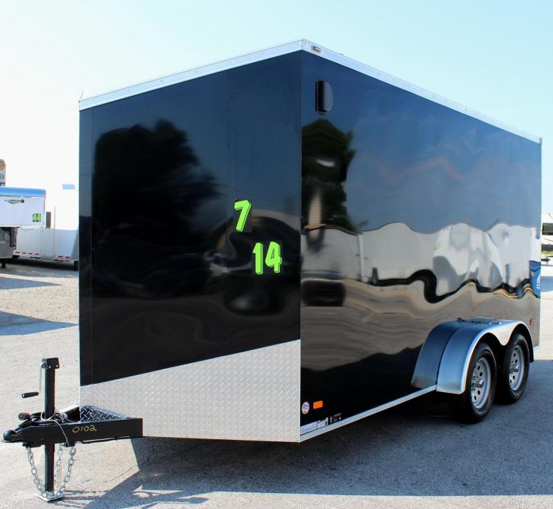 "<b>30"" Slant V-Nose w/12"" Extra High</b> 2020 7'x14' Scout Cargo Trailer  with Plus Pkg."