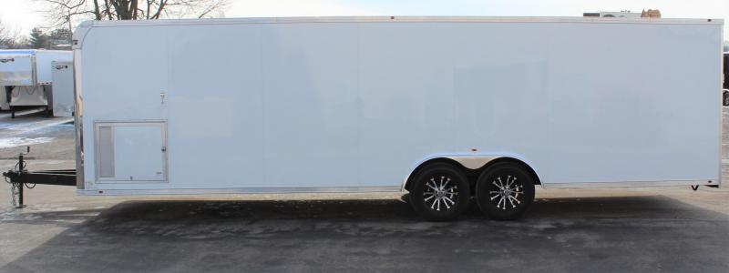 <b>Just Arrived</b> 2020 28' Millennium Silver Car / Racing Trailer