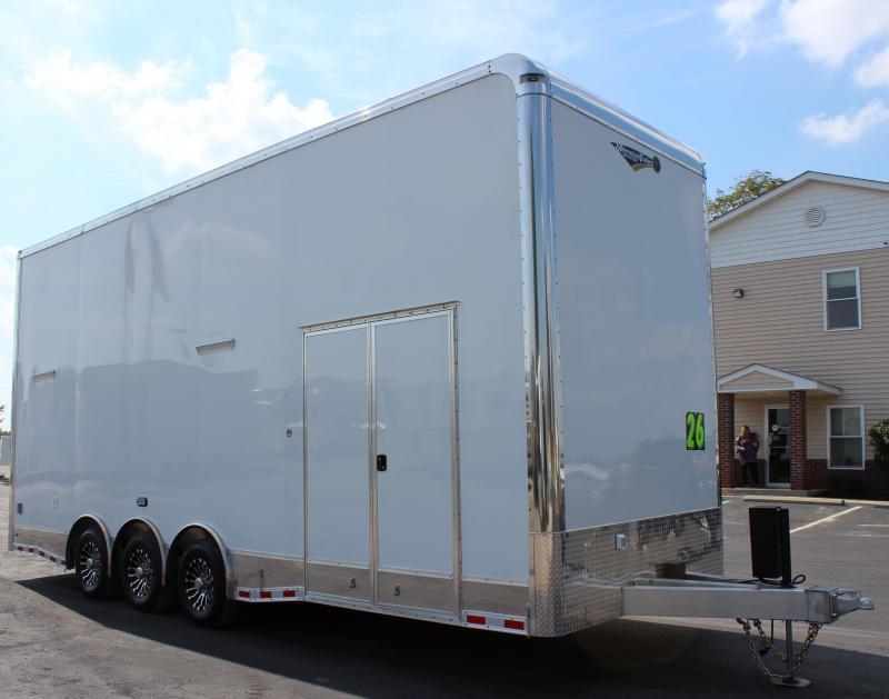 Pending Sale 2020 26' Millennium Stacker All Aluminum Black Cabs Wireless Winch Ramp Door LOADED!