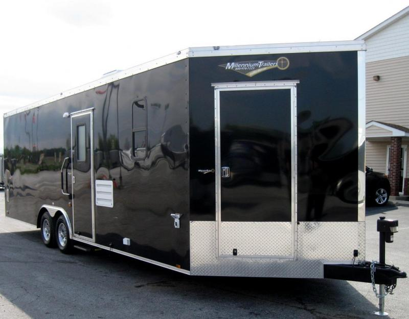 2018 26' Millennium Auto Master Enclosed Trailer Toy Hauler w/Living Quarters