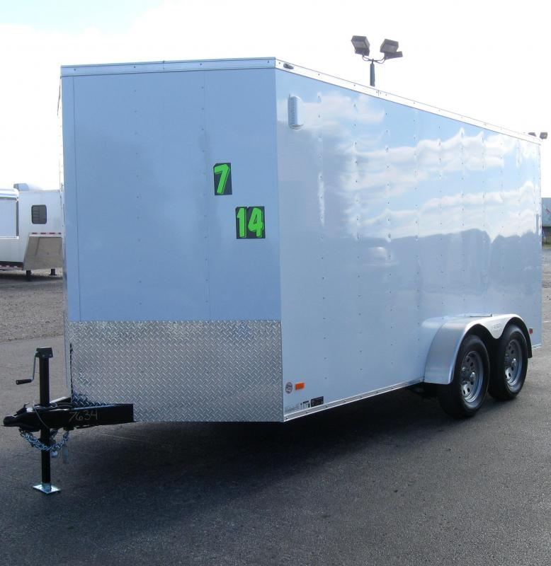 <b>CALL FOR PRICE</b> 7'x14' Scout Enclosed Cargo Trailer with Ramp Door