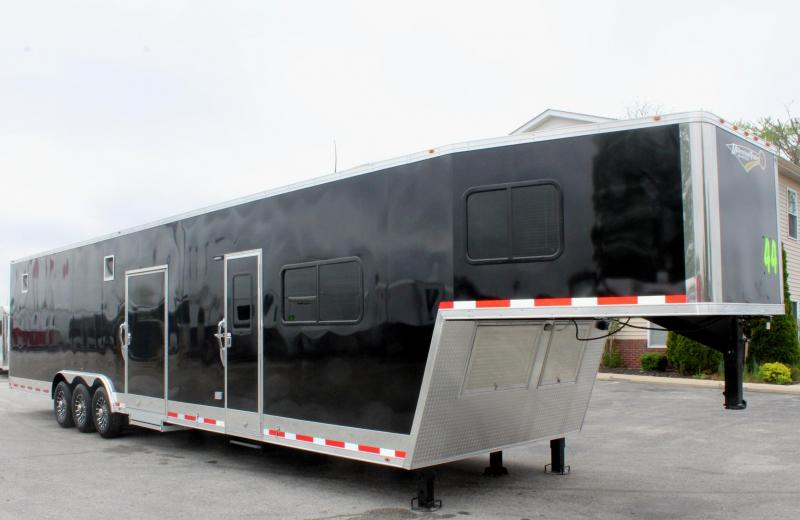 <b>Now Available</b> Tapered Nose 2019 44' Millennium 12'XE Living Quarters Trailer Alum Wheels