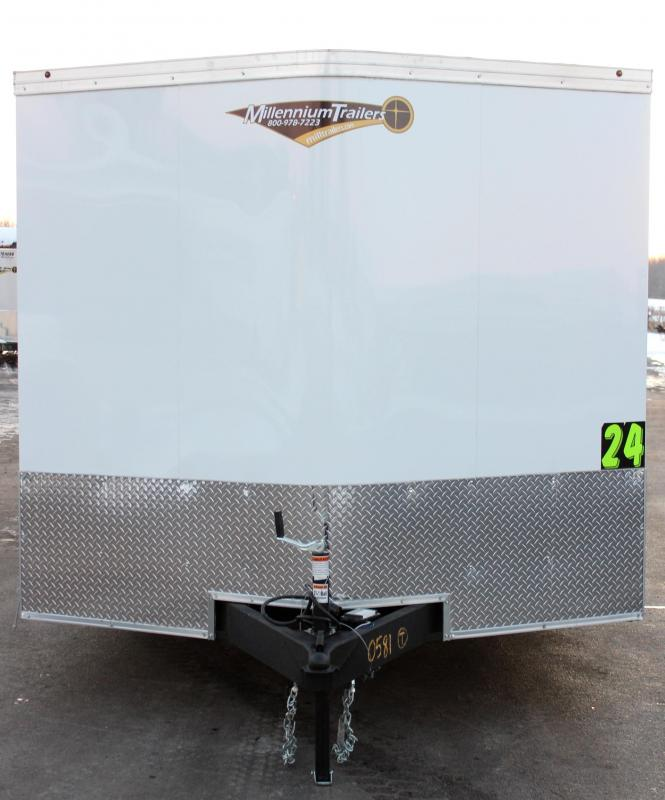 <b>Value Packed</b> 2020 24' Transport V Car Trailer w/Heavy Duty 5200# Axles & Screwless Exterior
