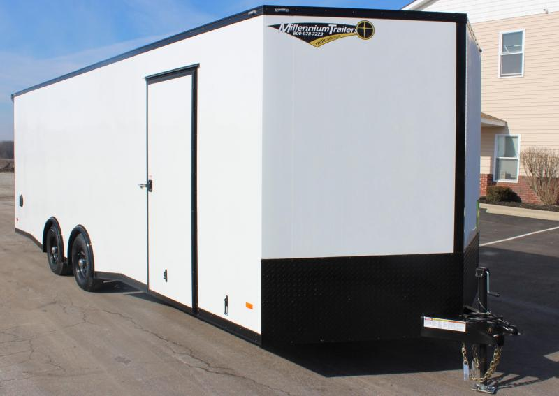<b>NEW MIDNIGHT EDITION</b> 2020 24' Millennium Scout Race Trailer w/ Lighted Rear Wing