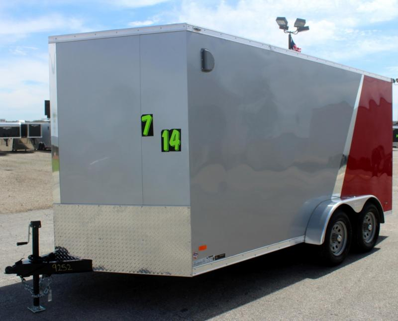 <b>CLEARANCE  $5999</b> 2020 7'x14' Scout Enclosed Cargo Trailer with Ramp Door
