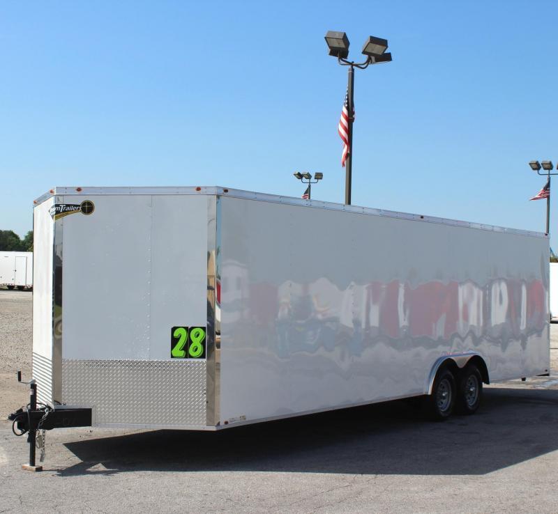 <b>READY!</b> 2020 28' Millennium Chrome Enclosed Race Car Trailer FREE RADIAL UPGRADE