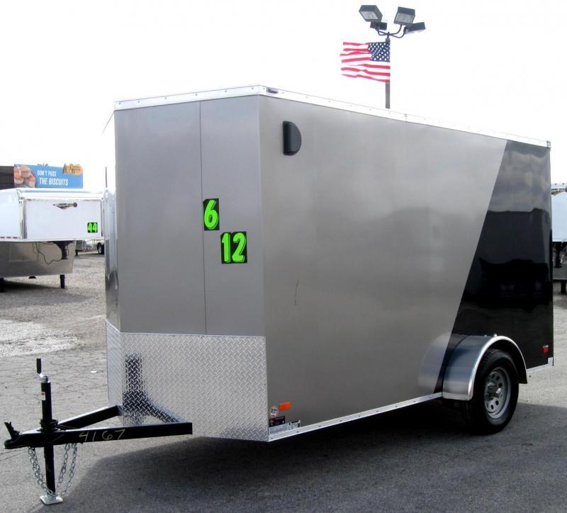 6'x12' Scout Cargo Trailer w/Ramp Door & Plus Pkg & Free Upgrades