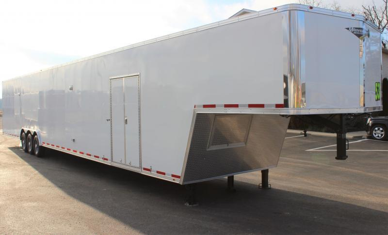 <b>PERFECT CAR HAULER 180' Recessed E-Track</b>  2020 53' Millennium  Gooseneck
