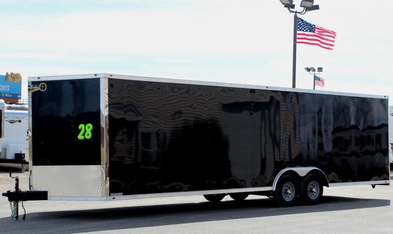 28' Millennium Chrome Enclosed Trailer FREE Upgraded Radial Tires